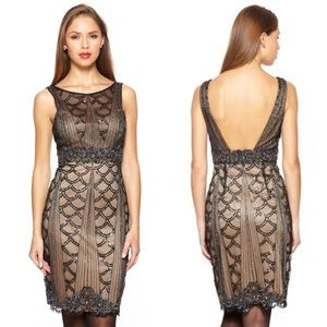 NEW Sue Wong Gatsby Beaded Party Dress